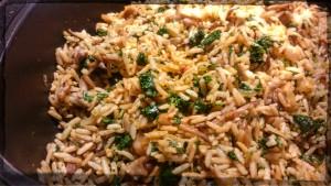 ryz z jarmużem